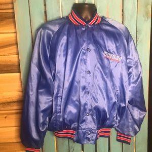 Vintage Walmart satin varsity bomber jacket USA XL